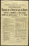 French Republic. Liberty – Equality – Fraternity. Police Department. 2nd Division – 3rd Bureau. Order. Wearing.