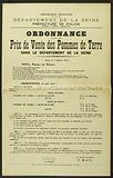 French Republic. Freedom – Equality – Fraternity. Department of the Seine. Police Department.
