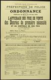 French Republic. Liberty – Equality-Fraternity. Police Department. 2nd Division – 3rd Bureau. Order. Wearing.