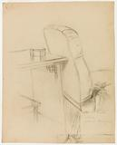 Study for a chair and table for the portrait of Madame Jules-François Dietz (recto)