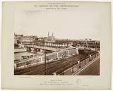 Construction of the Paris Municipal Metropolitan Railway – Passy Viaduct, overall view of the site taken from the left …