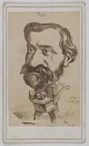 Caricatured portrait of Giuseppe Verdi, opera composer, deputy in 1861 and senator in 1874