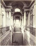 Tuileries Palace burned down. Interior of the Grand Staircase of Honor.