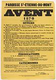 Parish ST-Etienne-du -Mont. Advent. 1870. Offices.