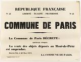 """Republique Francaise. N°43 Liberte – Egalite – Fraternite N°43 Commune of Paris."""
