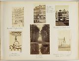 Six views of Brussels: the Grand-Place, the statue of the Count of Egmont and the Count of Hornes on the Grand-Place, …