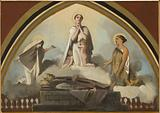 Sketch for the Saint-Séverin church: The apostolic races of Saint Francis de Sales – The apotheosis of Saint Francis …