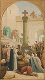 Sketch for the Saint-Sulpice church: Saint Geneviève distributing bread to the poor during the siege of Paris