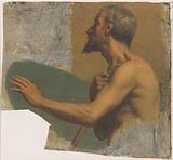 Sketch for Notre-Dame-de-Lorette church: Blind man stretching out his left arm