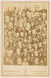 Mosaic portrait of a hundred great French men of the 19th century