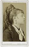 Profile portrait of Miss Muller, actress of Théâtre de la Gaîté