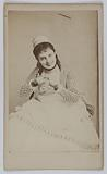Portrait of Augustine-Alexandrine Toulet, known as Alice Regnault, stage actress between 1869 and 1880