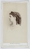 Portrait of Mademoiselle de Sienne, actress at the Théâtre de Cluny in 1867 and at the Théâtre de la Gaîté