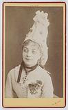 Portrait of Juliette Joséphine Simon-Girard, soprano at the Théâtre des Folies-Dramatiques in 1877, in Les Cloches de …