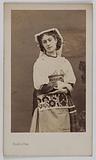 Portrait of Marie Vernon, dancer at the Opera in 1862, in the role of Fenella, in La Muette de Portici by …