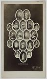 Multiple portrait or mosaic of Alphonsine (Jeanne Benoist; Alphonsine Margaine; known as) (actress)