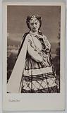 Portrait of Fanny Genat (dancer, mime, actress)