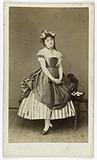 Portrait of Nathalie Marie Hyacinthe Martine, actress at the Théâtre du Palais Royal between 1859 and 1869 and at the …