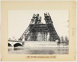 View of the Eiffel Tower under construction during the Universal Exhibition of 1889, 7th arrondissement, Paris