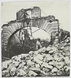 The docks of La Villette burnt down during the Commune, the swing bridge, 19th arrondissement, Paris