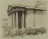 Exhibition of wreaths of flowers on the steps of the Pantheon, 2 June 1885