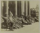 View of wreaths of flowers on the steps of the Pantheon, 2 June 1885, the day after the funeral