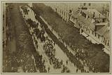 View of the procession, floats decorated with wreaths, boulevard Saint-Germain, 1 June 1885