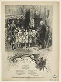 Victor Hugo receiving small children in his living room on avenue d'Eylau