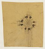 Plan, project of a monument to be erected on the Place du Trône