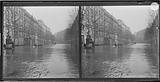 Flood of the Seine: avenue Ledru-Rollin flooded, with people navigating in rowing boats, 11th, 12th arrondissement, …