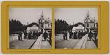 Universal Exhibition of 1900. Passerelle des Invalides, rue des Nations (quai d'Orsay), 7th arrondissement, Paris.