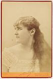 Portrait of Angela, wife Albert Lambert, actress