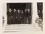 Group portrait at the inauguration of the Maison de l'Indochine, Mr Gaston Doumergue and the Emperor of Annam, Cité …