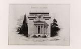 Drawing of the main facade of the Hellenic Foundation, Cité internationale universitaire de Paris, 14th arrondissement