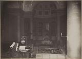 Two nuns playing the organ in the main chapel, Saint-Lazare prison, remand center for women, 107 rue du …