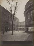 Courtyard the arcades and the back of the apse of the large chapel, Saint-Lazare prison, remand center for women, 107 …