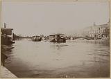 Flood of the Seine, Pont des Saints-Pères, also known as Pont du Carrousel, 7th and 1st arrondissements, Paris