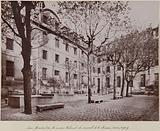 Courtyard formed by the old buildings of the Mission Convent, Saint-Lazare prison, 10th arrondissement, Paris