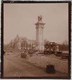 Construction of the Alexandre III bridge and the Petit Palais on the occasion of the Universal Exhibition of 1900, 8th …