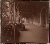 Gallery along one of the Champ-de-Mars palaces during construction, Universal Exhibition of 1900, 7th arrondissement, …