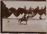 Tents and Russian rider [?], Lapp encampment reconstructed on the occasion of the Universal Exhibition of 1900, Paris