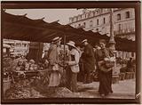 Open market. Vegetable stall, Paris.