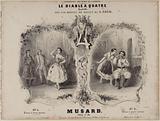 """""""Le diable à quatre"""", title page of a quadrille score, by Musard after Adam"""