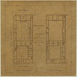 Plan of the ground floor and first floor of the Hotel Carnavalet