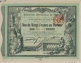 Vingt Francs to the Porter. Universal Exhibition of 1900.