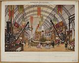 World Exhibition. Palace of Industry. – Interior view of the machine gallery.