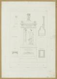 Sections and elevations of the funerary monument of Cherubini