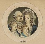 Medalist presenting the face portraits of Louis XVI, Marie-Antoinette, Mme Royale and the Dauphin