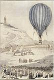 The captive observation balloon in Montmartre