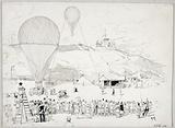 Departure of the Le Neptune balloon, place Saint-Pierre-de-Montmartre, 23 September 1870